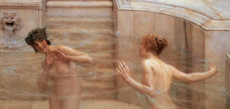 A Favourite Custom (L. Alma-Tadema, 1909, détail)